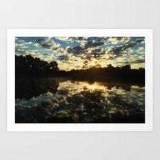 One Pond Pause Art Print