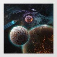 Deep Space Flare Canvas Print