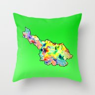 Throw Pillow featuring Cavan Water Colour by Kramcox