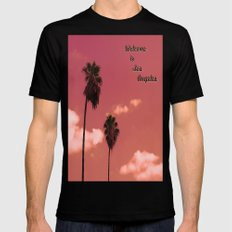 Welcome to Los Angeles Mens Fitted Tee Black SMALL