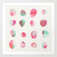 Painted Pebbles 6 Art Print