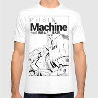 pilot & machine Mens Fitted Tee White SMALL