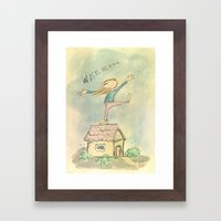 Happy Girl Framed Art Print
