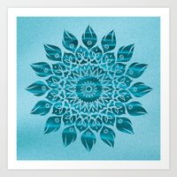 Deep Meditation Mandala Art Print