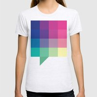 Digital Chat Womens Fitted Tee Ash Grey SMALL