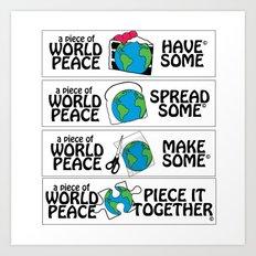 World Peace, Illustration Art Print