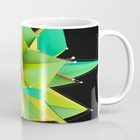 Polygons green Abstract Mug