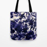 Abstract Floral In Deep … Tote Bag