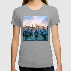 Gondolas in Venice  Womens Fitted Tee Tri-Grey SMALL