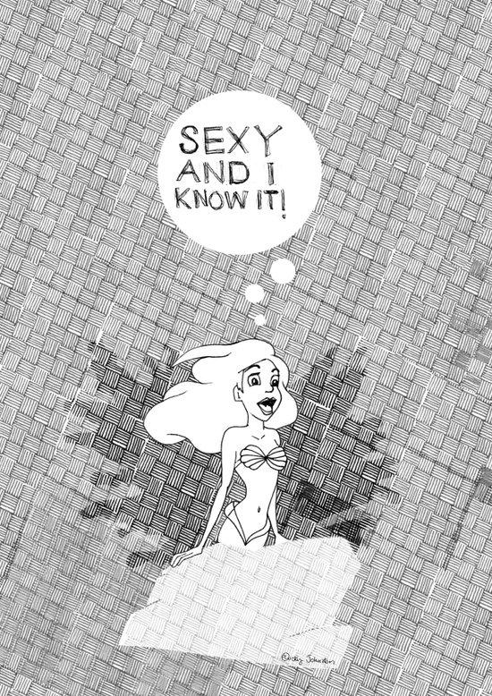 SEXY & I KNOW IT. Ariel The Little Mermaid Art Print
