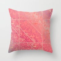 Pink Marble Texture G281 Throw Pillow