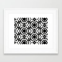 Vogelaar Black & White Pattern Framed Art Print