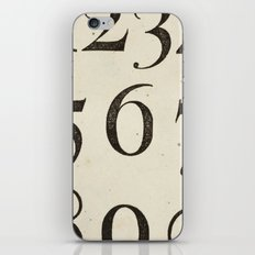 Vintage Numbers iPhone & iPod Skin