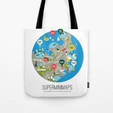 Sydney Swimming Spots Minimap by Alejandro Castillo Tote Bag