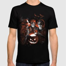 Freddy Krueger Jason Voorhees Michael Myers Super Villians Holiday Mens Fitted Tee Black SMALL
