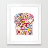 Sandwich Chart Framed Art Print