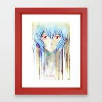 Rei Ayanami From Evangel… Framed Art Print