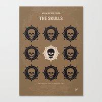 No662 My The Skulls minimal movie poster Canvas Print