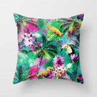 Exotic Vegetation Throw Pillow