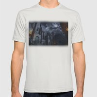 The Castle Mens Fitted Tee Silver SMALL
