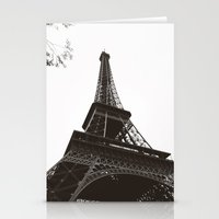 eiffel Stationery Cards featuring eiffel by samantha lawson