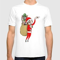 Merry Xmas Mens Fitted Tee White SMALL
