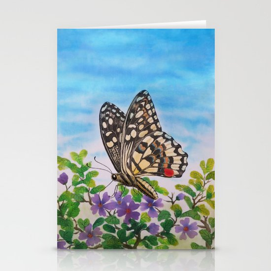 Chequered swallowtail  Stationery Card