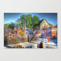 Western Yard Canvas Print