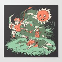 Tommy Tentacles Stole Be… Canvas Print