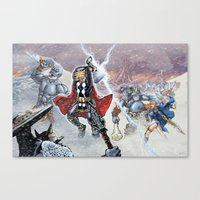 Thor and the Frost Giant War Canvas Print