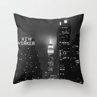 Empire State Building At… Throw Pillow