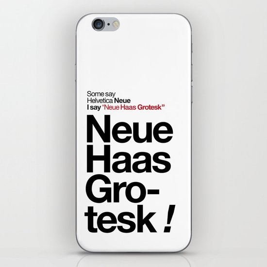Helvetica Neue / Neue Haas Grotesk – Poster iPhone & iPod Skin