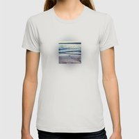 Beach Feeling Womens Fitted Tee Silver SMALL