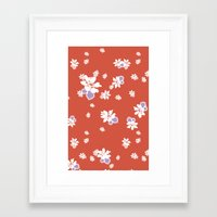 Ditsy - Tango Framed Art Print