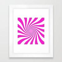 Swirl (Hot Magenta/White) Framed Art Print