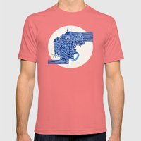 Lost City Mens Fitted Tee Pomegranate SMALL