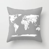 A Political Map Of The W… Throw Pillow