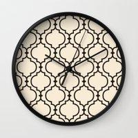 Trellis Pattern I Wall Clock