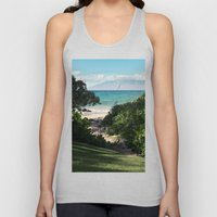 Kaulauo Ulua Beach Mokap… Unisex Tank Top