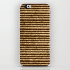 Striped Burlap iPhone & iPod Skin