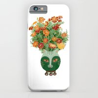 Marigolds in cat face vase  iPhone 6 Slim Case