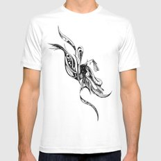 Drift White SMALL Mens Fitted Tee