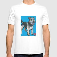 Airedale White SMALL Mens Fitted Tee