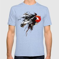 Eruption Eagle Mens Fitted Tee Tri-Blue SMALL