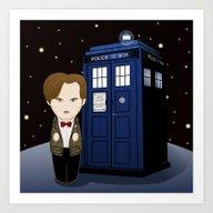 Kokeshi 11th Doctor Who  Art Print