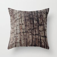 The Work Of A Woodpecker Throw Pillow
