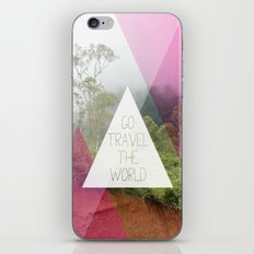 Travel the world Indonesia photography smokey mountain and typography print iPhone & iPod Skin