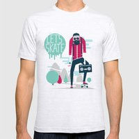 Let's skate  Mens Fitted Tee Ash Grey SMALL