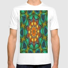 Mandala - Soul Live White Mens Fitted Tee SMALL