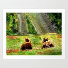 Cows of Bavaria Art Print